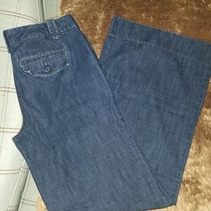 Ann Taylor loft wide leg lightweight jeans 4